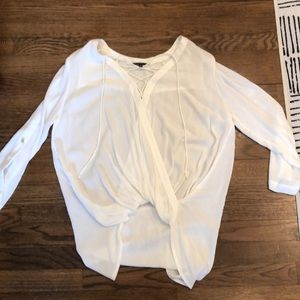 Staccato flowy white top